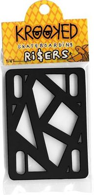 "Krooked Risers 1/4"" Black"