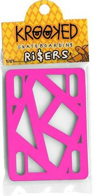"Krooked Risers 1/8"" Hot Pink"