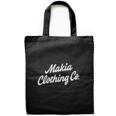 Makia Script Tote Bag Black