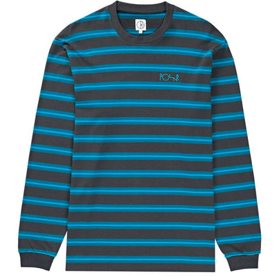 Polar Skate Co. '91 Longsleeve Tee Graphite/Cyan/Ice Blue