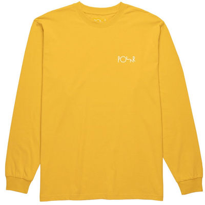 Polar Skate Co. Stroke Logo LS Yellow