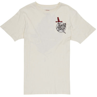 Santa Cruz T-Shirt Flash Hand Vintage White