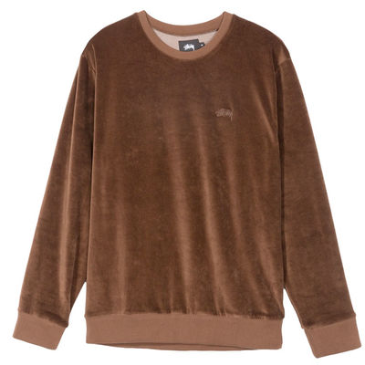 Stüssy Velour Crew Brown