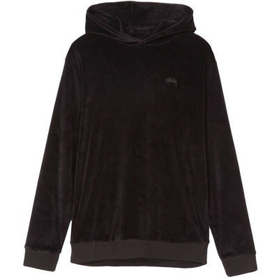 Stüssy Velour Hood Black