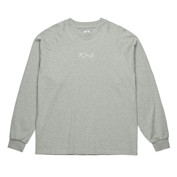 Polar Skate Co. Default Longsleeve Tee Heather Grey