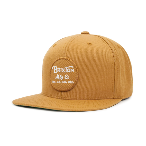 Brixton Wheeler Snapback Copper White