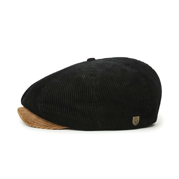 Brixton Brood Corduroy Bison/Black