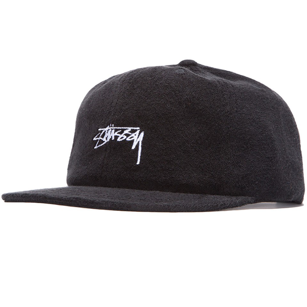 Stüssy Terry Cloth Cap Black
