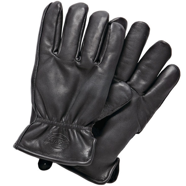 Dickies Memphis Lined Leather Gloves Black