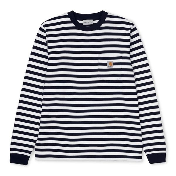 Carhartt WIP L/S Scotty Pocket T-Shirt Scotty Stripe Dark Navy