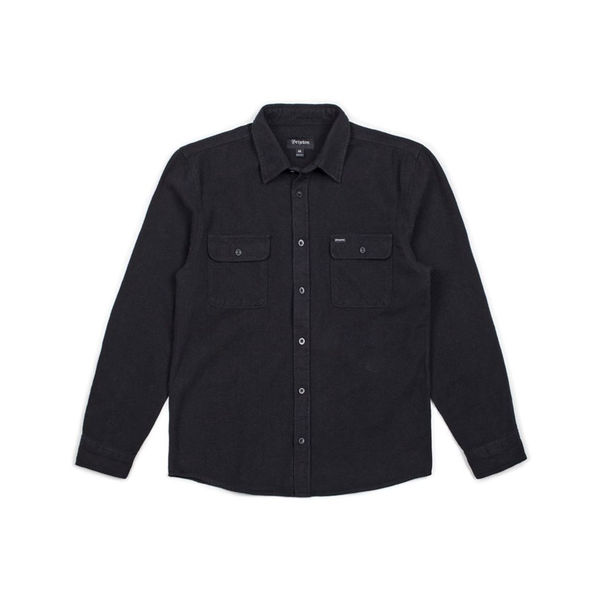 Brixton Bowery L/S Flannel Black