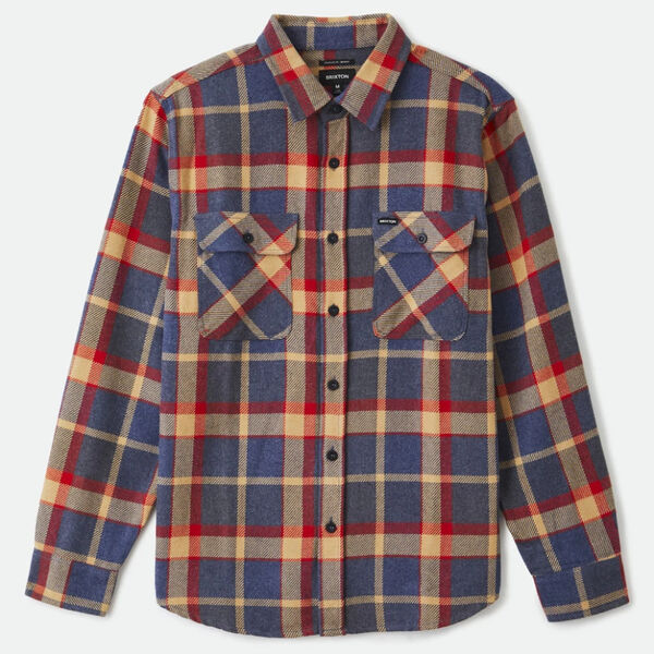 Brixton Bowery L/S Flannel Blue Red