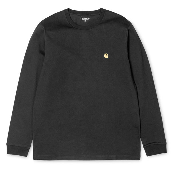 Carhartt WIP L/S Chase T-Shirt Black/Gold