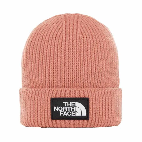 The North Face Logo Box Cuff Beanie Misty Rose