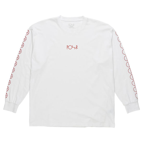 Polar Skate Co. Racing Longsleeve White/Red