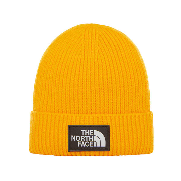 The North Face Logo Box Cuff Beanie Zinnia Orange
