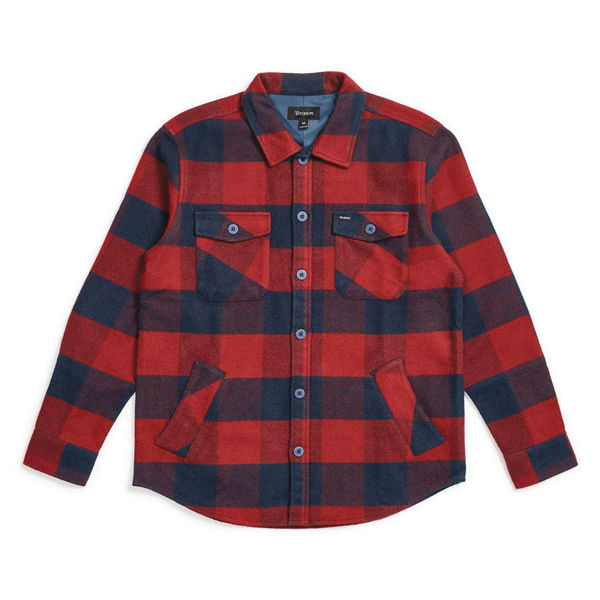 Brixton Durham L/S Flannel Navy/Red