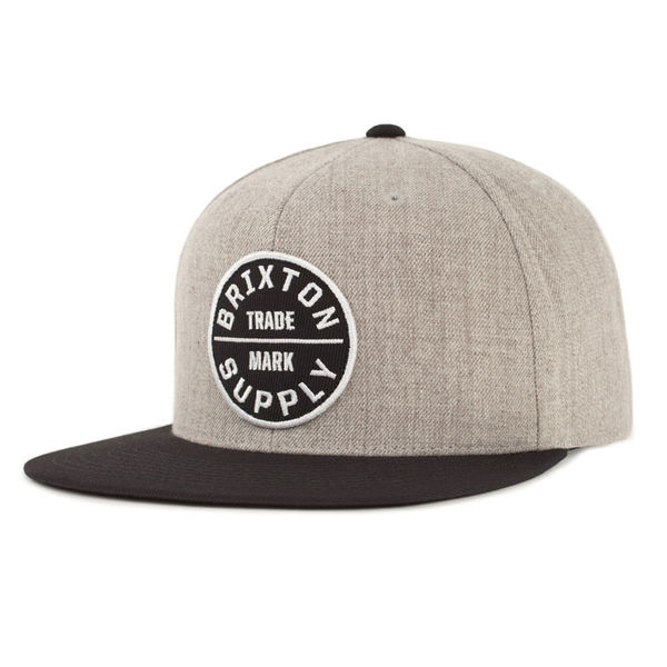 Brixton Oath 3 Snapback Heather Grey/Black