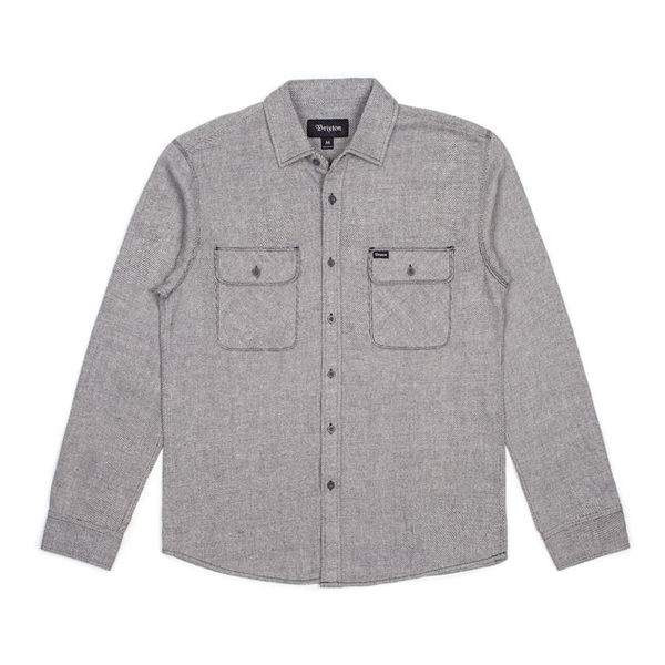 Brixton Bowery L/S Flannel Grey