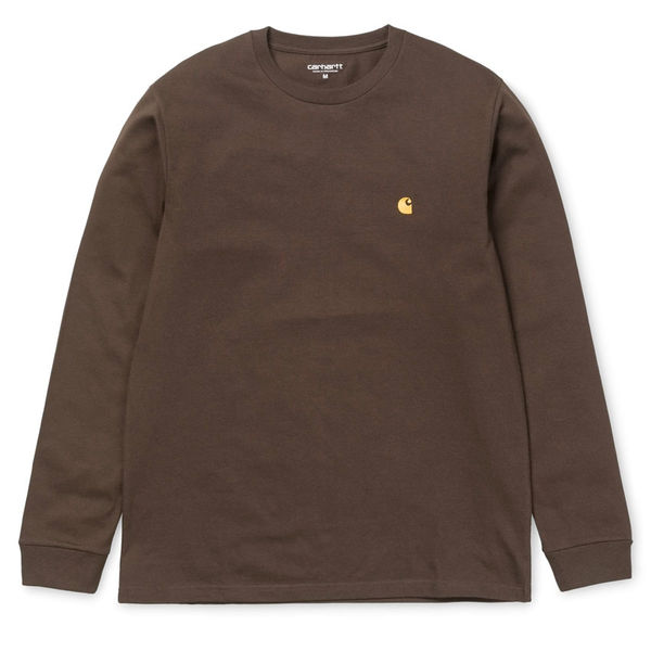 Carhartt WIP L/S Chase T-Shirt Tobacco/Gold