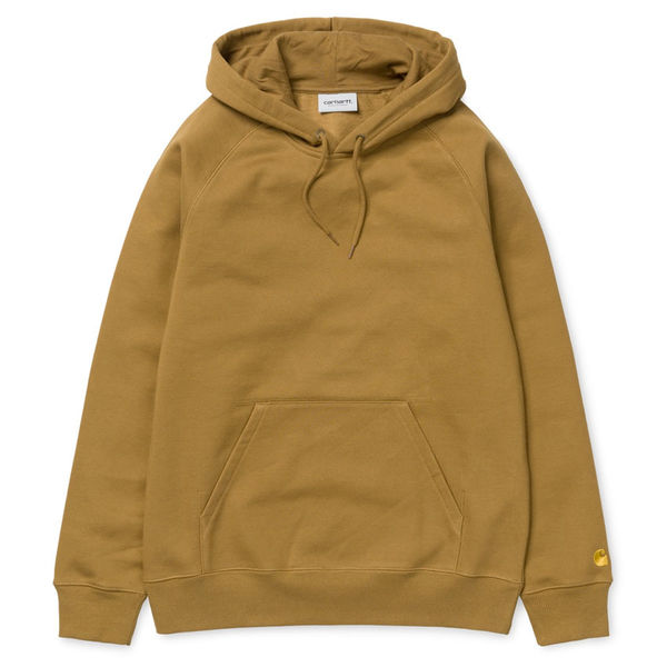 Carhartt WIP Hooded Chase Sweat Hamilton Brown/Gold