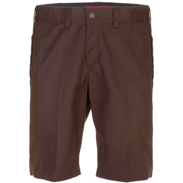 Dickies Industrial Work Shorts Slim Chocolate Brown