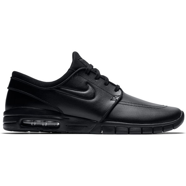 Nike SB Stefan Janoski Max Leather Black/Metallic Pewter/Black