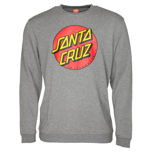 Santa Cruz Crew Classic Dot Dark Heather Grey