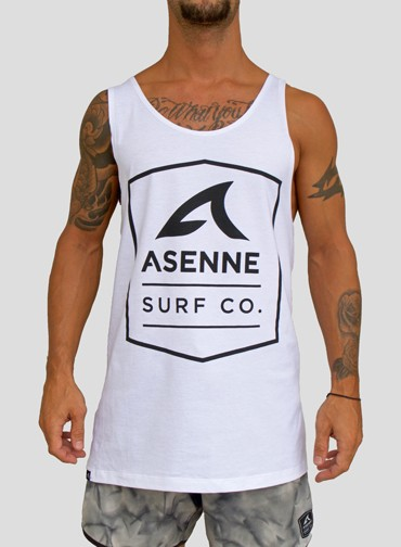 Asenne Surf Co Singlet White
