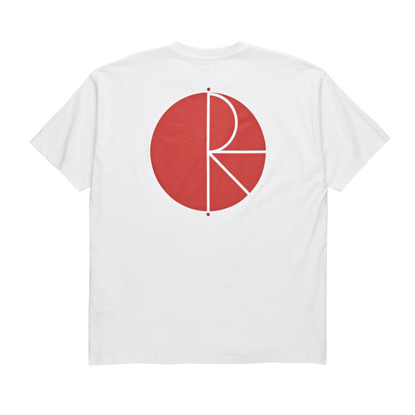 Polar Skate Co. Fill Logo Tee White/Red