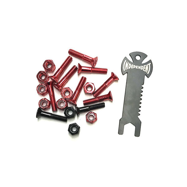 "Independent Bolts Phillips 1"" Red/Black"