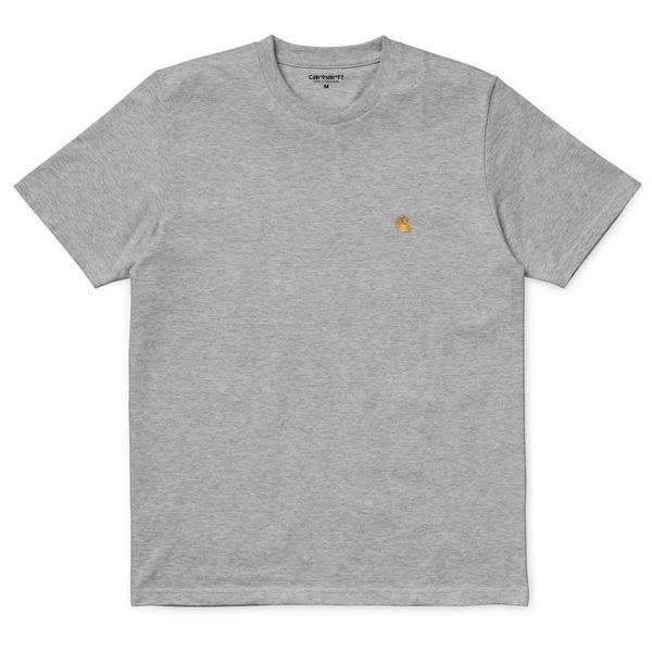 Carhartt WIP S/S Chase T-Shirt Combed Grey Heather/Gold