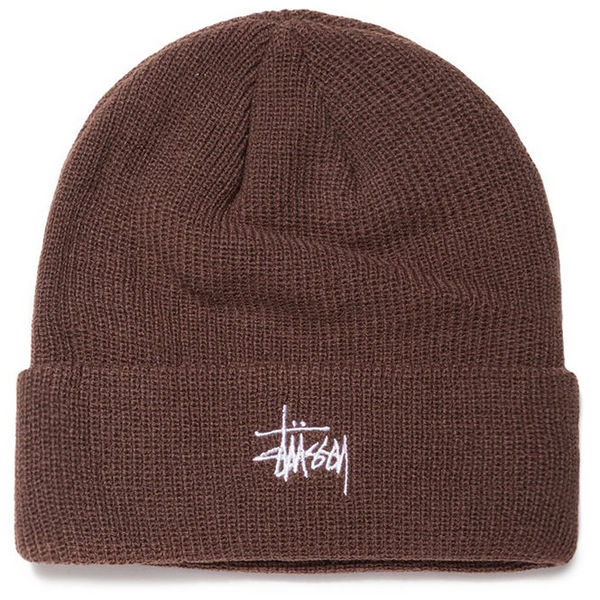 Stüssy Basic Cuff Beanie Brown