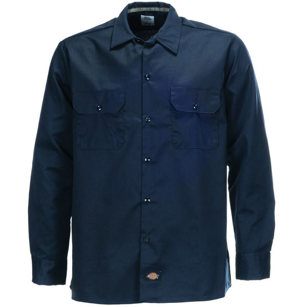 Dickies Slim LS Work Shirt Dark Navy