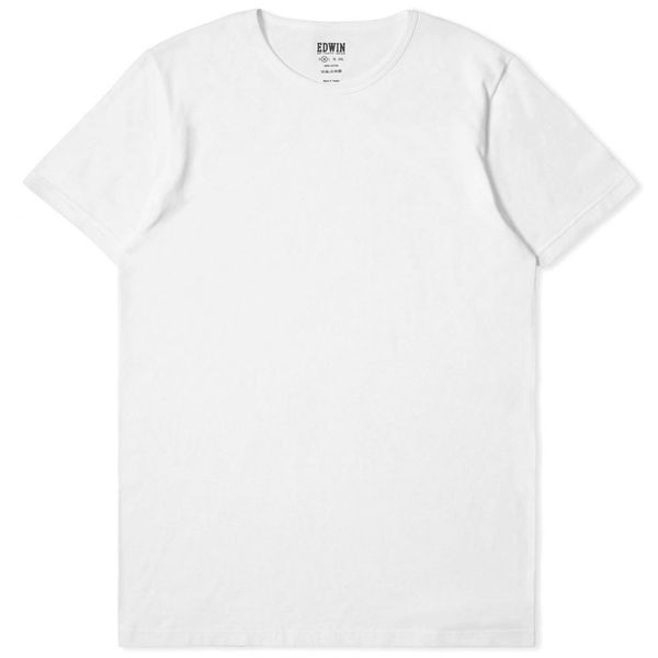 Edwin Double Pack SS Tee White