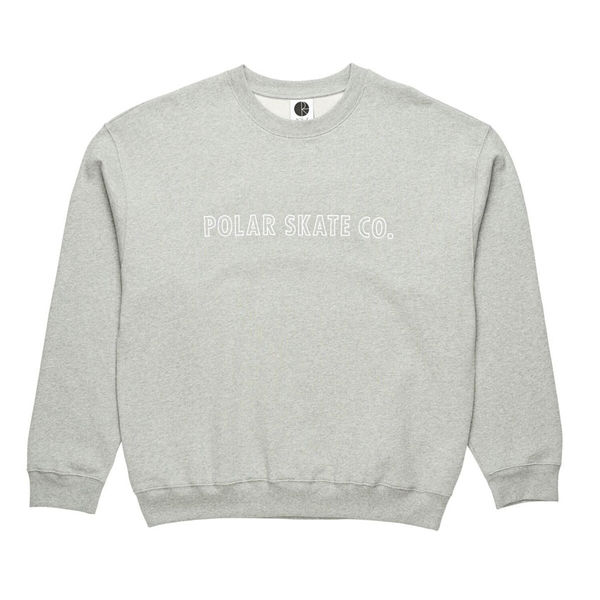 Polar Skate Co. Outline Crewneck Heather Grey